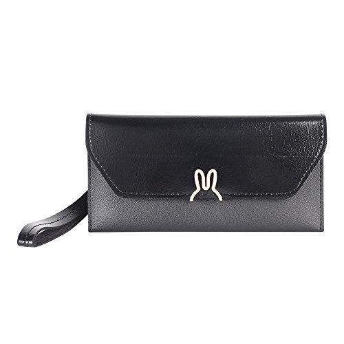 Women's Clutch Bag Wallet PU Leather Ultra-thin Envelope Ladies Purse Travel Phone Purse (Ultra Thin Envelope)