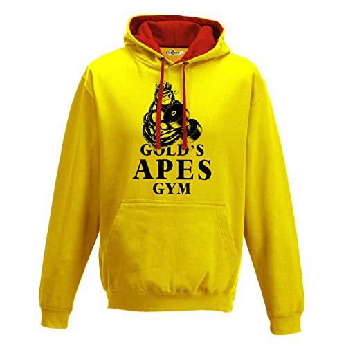 KiarenzaFD Hoodie Bico Palestra Gold s Apes Gym Monkey Bodybuilding