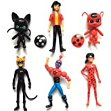 Miraculous Ladybug Japan Anime Action Figures 6 pieces