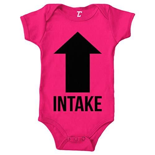 Tcombo Intake Exhaust - Gearhead Funny Bodysuit (Pink, Newborn) (Best Selling Muscle Car)