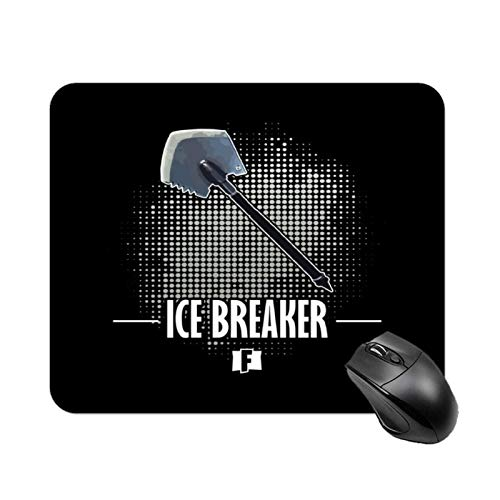 Yuanmeiju Alfombrilla de raton Battle Royale Ice Breaker High Speed Non Slip Gaming Table Mat, Office Square Polyester Base Mouse Pad, Customized Small Desk Mat 11 8x9 8 in