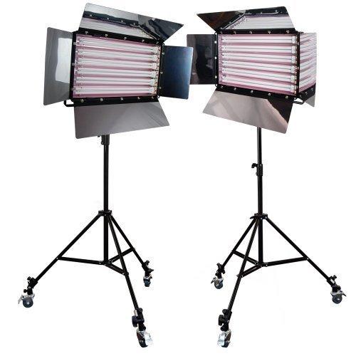 LimoStudio Photography Photo Video Studio 3300W Digital Light Fluorescent 6-Bank Barndoor Light Panel Kit by LimoStudio
