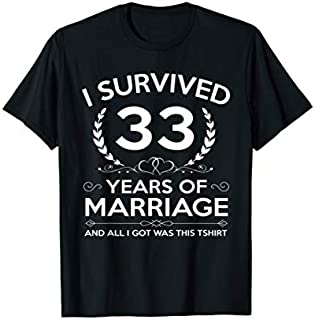 [Featured] 33rd Wedding Anniversary Gifts Couples Husband Wife Years in ALL styles | Size S - 5XL