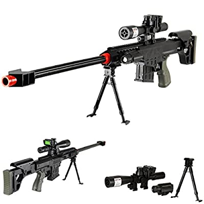"""36"""" Elite Airsoft Sniper Rifle 315FPS with Laser, Light, Bipod, and DUMMY Scope - #1 Seller -"""