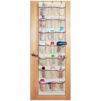 PRO MART DAZZ 42 Pocket Over The Door Organizer, Beige