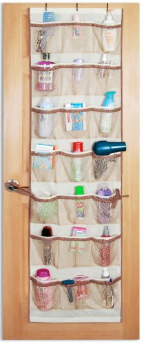 PRO-MART DAZZ 42 Pocket Over The Door Organizer, Beige