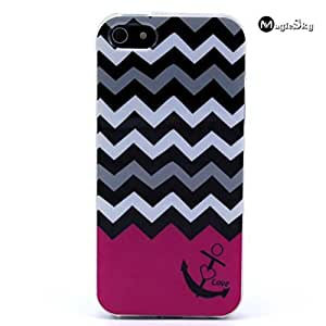 Case For Ipod Touch 4 Cover Case, Case For Ipod Touch 4 Cover Case, New,Wave and Anchor Pattern MagicSky Snap-on Case PC Soft Back Protective Skin Case For Ipod Touch 4 Cover, 1 Pack