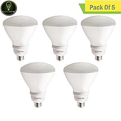 Perlite Lighting (Pack of 5) CF23R40WW/DM 23-Watt R40 CFL Energy Wiser Dimmable Reflector 2700k Medium E26 Base 120-Volt Light Bulb - Dimmable Cfl Reflector