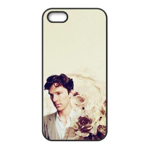 Benedict Cumberbatch 021 coque iPhone 5 5S cellulaire cas coque de téléphone cas téléphone cellulaire noir couvercle EOKXLLNCD22163