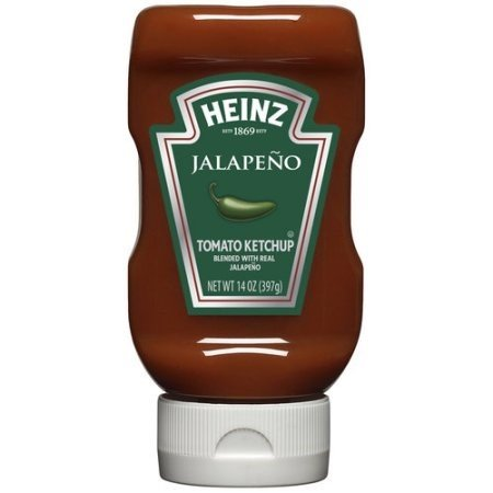 Heinz Tomato Ketchup, Jalapeno, 14 oz (2 Pack)