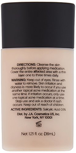 31rBJIC18zL e.l.f. Acne Fighting Foundation, Sand, 1.21 Fluid Ounce