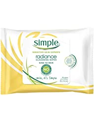 Simple Sensitive Skin Experts Radiance Cleansing Wipes 25 ea (Pack of 3)