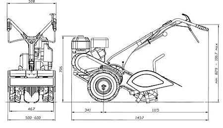 EUROSYSTEMS MC 67 TM 70 MOTOCOLTIVATORE GASOLINA DE MOTOR DE ...