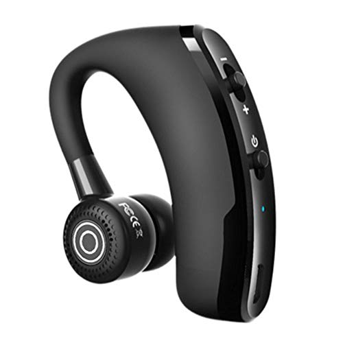 Ear-Hook Bluetooth Headphones, V9 Updated Version Handsfree Business Wireless Single Ear CSR Bluetooth Headset Noise Cancelling Earbuds Stereo with Sound Control