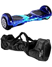 موازنة السيارةCoolbaby 6.5 Inch Smart Self Balance Power Hoverboard Wheel, Adult Electric Scooters, Hoverboard for Kid, With Bluetooth Speakers And Led Lights Wheels, Get 6 Pieces Of Protective Gear