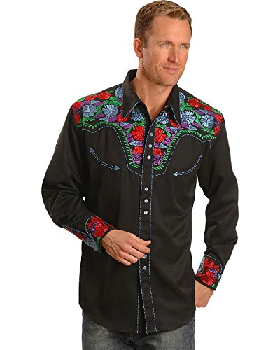 scully-mens-vibrant-floral-embroidered-retro-western-shirt-black-large