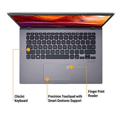 ASUS VivoBook 14 X409UA-EK362TS Intel Core i3 7th Gen 14-inch FHD Compact and Light Laptop (4GB RAM/256GB NVMe SSD/Windows 10/MS-Office 2019/Integrated Graphics/FP Reader/1.60 kg), Slate Grey