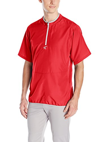 Easton Men's M5 Short Sleeve Cage Jacket, Red/Silver, Large