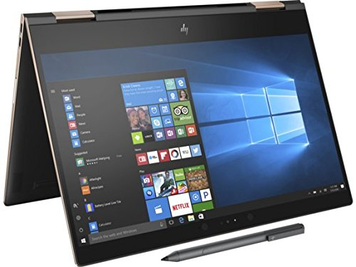 HP Spectre x360-13t Quad Core(8th Gen Intel i7-8550U, 16GB RAM, 512GB PCIe NVMe SSD, IPS micro-edge Touchscreen Corning Gorilla, Windows 10 Ink)Bang & Olufsen 13.3