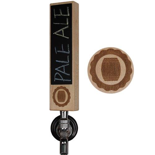 Handle Keg (Fanfoobi Wooden IPA Beer Tap Handle with Chalkboard, Kegerator Tap Handle,8