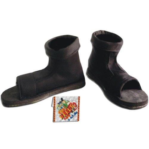 NARUTO Cosplay Zapato Black ninja Mens Size EU 42: Amazon ...