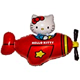 """35"""" Red Hello Kitty Airplane Hovering String-less Balloon Anti-Gravity Toy Party Favor"""