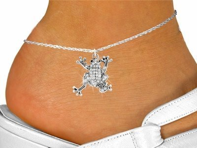 Pave Crystal Frog Charm & ()