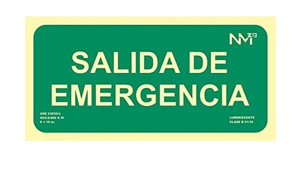 Cartel PVC Salida de emergencia 150x300 clase B homologado ...