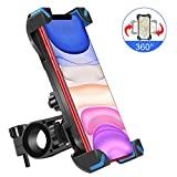 """OHUI Bike Phone Mount, Full Screen Touch 360° Rotation Anti Shake Phone Mount Holder Compatible with iPhone 11/Pro Max/X/XR/XS Max/8/7/6 Plus, Samsung Galaxy S10/S10e/S9 and Other 4.5""""-7"""" Smart Phones"""
