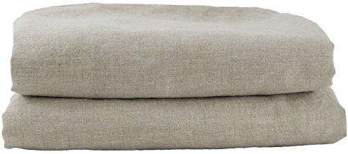 Hotel Sheets Direct 100% French Flax Linen Duvet 5 Piece Set (Queen, NATURAL)
