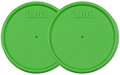 ILIDS Mason Regular Mouth Jar Storage Lid (2 Pack), Grass Green