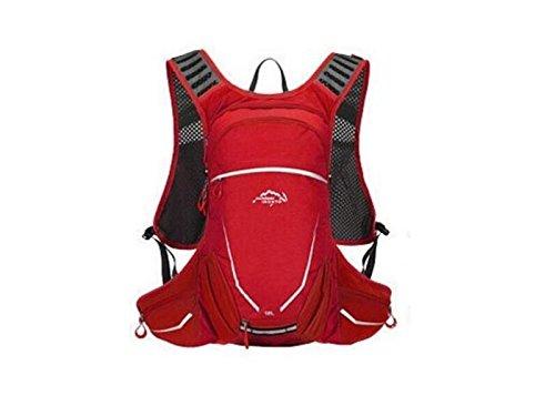 OVIIVO Bike 18L Hydration Bladder Backpack Adjustable Tactical Water Backpack with Water Bladder for Biking Cycling Travel Hiking (Red) by OVIIVO