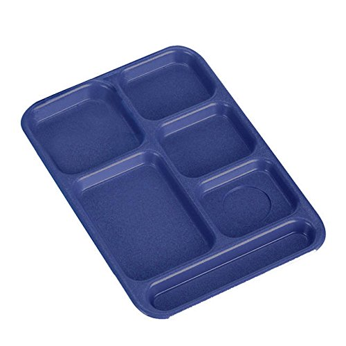 Cambro PS1014186 Textured Penny-Saver School Tray, 6-Compartment, 10