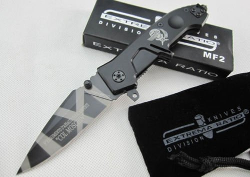 Pocket Survival Knife Tactical Rescue Super Steel Folding Saber Tool - Nightfall Collectors