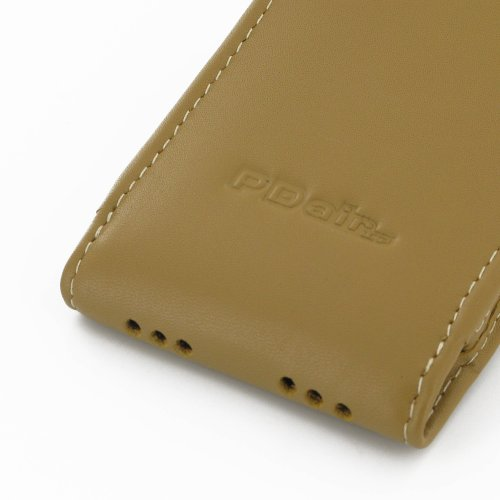 Apple iPhone 5s Leather Case / Cover (Handmade Genuine Leather)- Vertical Pouch Type (NO Belt Clip) (Tan) by Pdair