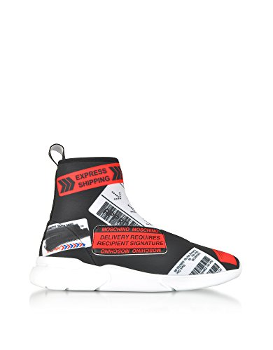 Moschino Ladies Sneakers Alte In Tessuto Nero Ma15524g05m2100b
