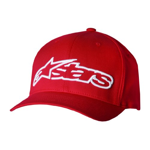 Alpinestars Men's Blaze Flexfit Hat, Red/White, Large/X-Large