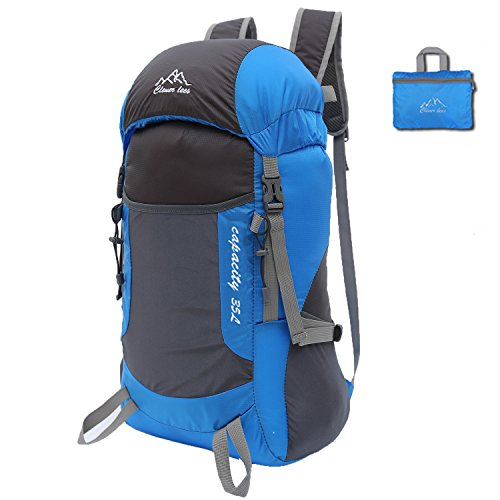 Ultralight Durable 35L Foldable Hiking Backpack Water-resistant Travel Daypack for Outdoor Camping