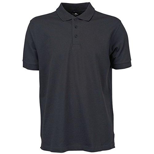 Tee Jays - Polo elastico de manga corta para caballero/hombre de primera calidad Modelo Luxury Stretch- Verano/ Vacaciones Vino