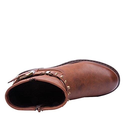 Globale Winnende Laarzen Van Vrouwenkadimaya Brown01
