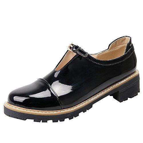 Fermeture À Boucle Femme Latasa Chunky Talon Chaussures Noir
