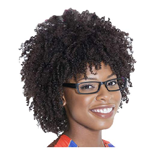 Clearance! Afro Bob Wig for Black Women Short Kinky Curly Full Hair Wigs Heat Resistant Synthetic Fiber Female Party Wigs Hairpiece -