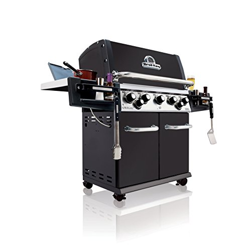 Broil King 958247 Regal 590 NG Gas Grill, Five-Burner, Black Porcelain