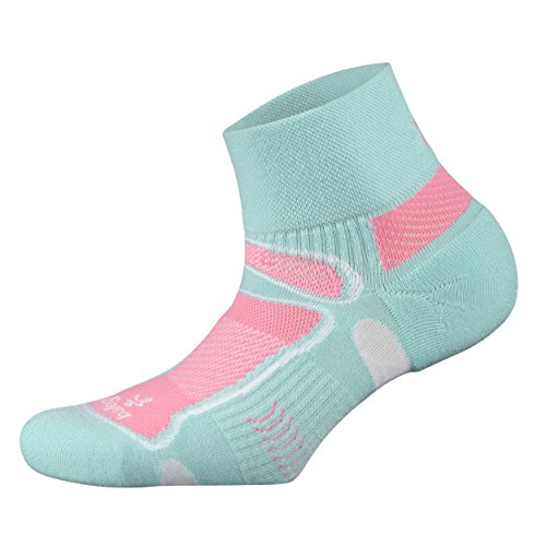 Balega Ultralight Quarter Athletic Running Socks for Men and Women (1 Pair), Aqua, Small ()