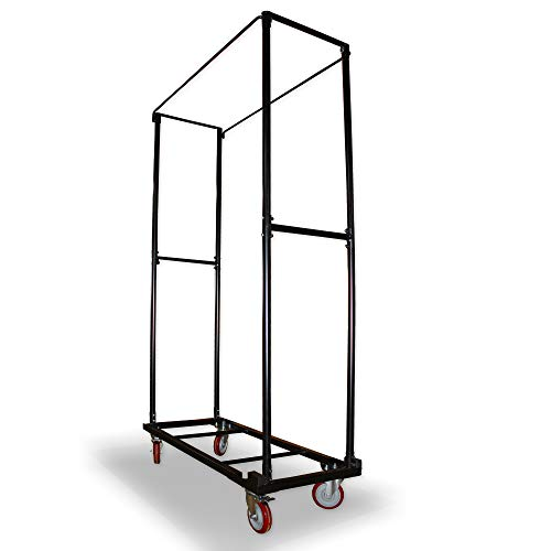 (Mayline 5000CB Event Series Stacking Chair Cart for 5000FC Chairs, sold separately, Black)