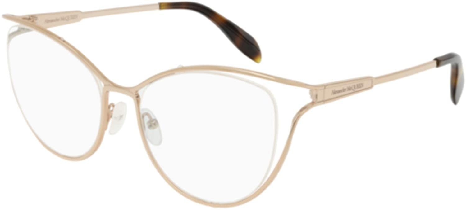 002 GOLD // Eyeglasses Alexander McQueen AM 0195 O