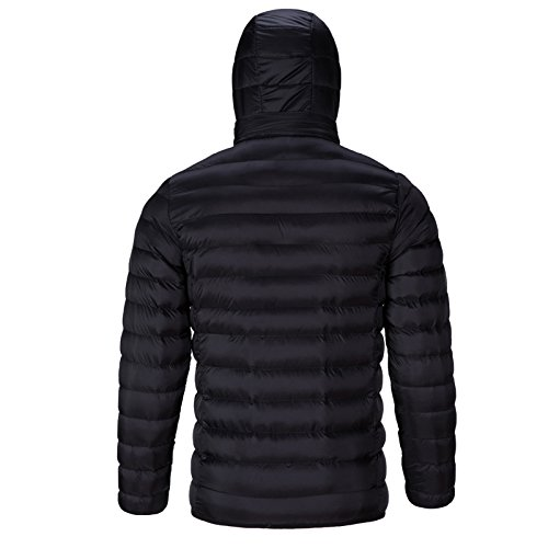 Down Travel Windproof Bmeigo Black Men's Winter size Puffer Casual Coat Outerwear XXXL Outdoor Warm Cotton Jacket Large Hooded PfPHY