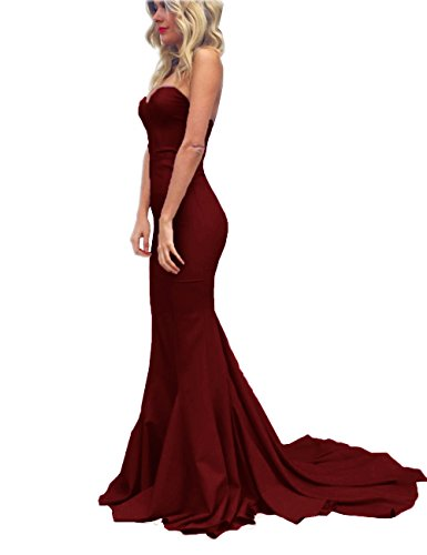 Topashe Women's Sweetheart Strapless Off The Shoulder Mermaid Long Prom Party GownUS4