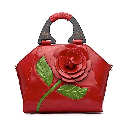 Messenger Main 6212 à Sac 15 Mode 26 ANLEI Red2 tridimensionnelle Fleur 5 29 à National Sac bandoulière Femmes Bag Couleurs cm PU 7 La Style qAxZt