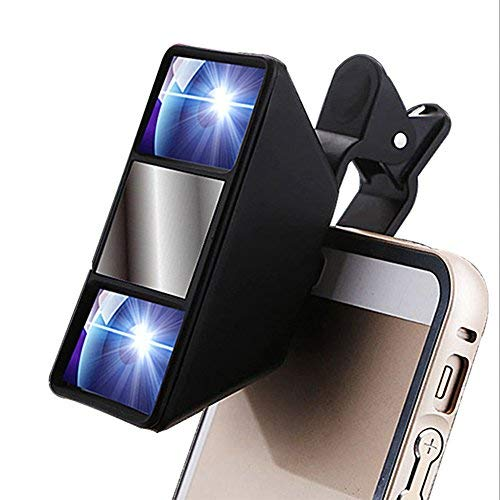 (Aibote Mini Universal 3D Camera Lens Stereo Photograph Stereoscopic Vision with Clip for iphone Samsung Huawei Nokia LG Smartphones Tablets)